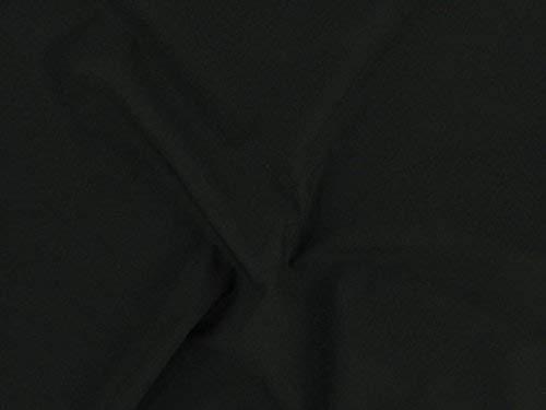 Dalston Mill Fabrics Tela de polialgodón, color negro, 3 m, algodón