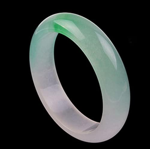 AJU Pulsera de concubina Imperial Verde Esmeralda Flotante de Jade Natural, Pulsera de Jade Verde Ovalada, la Mejor joyería de Moda, para la Persona Favorita 56-62 mm, Cultura China