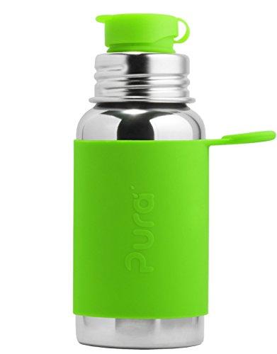 Pura Sport roestvrij stalen fles met siliconen Sport Top, 18 ounce