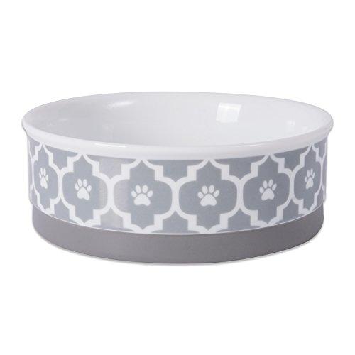 Bone Dry DII Lattice Square Ceramic Pet Bowl