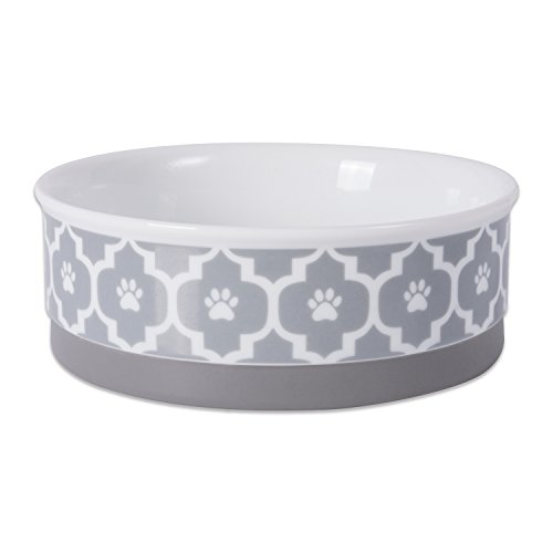 Bone Dry Lattice Ceramic Pet Bowl