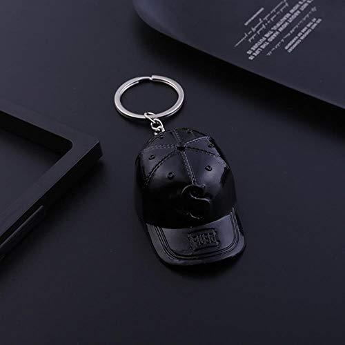 WYB Trendy Schwarz Weiß Hutform Schlüsselanhänger Für Männer Frauen Schlüsselbund Auto Schlüsselring Tasche Brieftasche Anhänger Liebhaber Schmuck, Schwarz