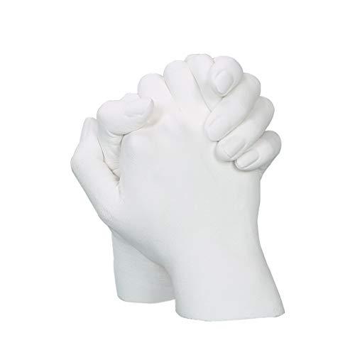 Fsyg 3D Gipsabdruck Set Hand und fuß 3D Handabdruck Set, Kind, Familie, Erwachsene 2 hände  3D fussabdruck Set komplett mit Alginat - eine Zauberhafte Erinnerung in 3 D,c