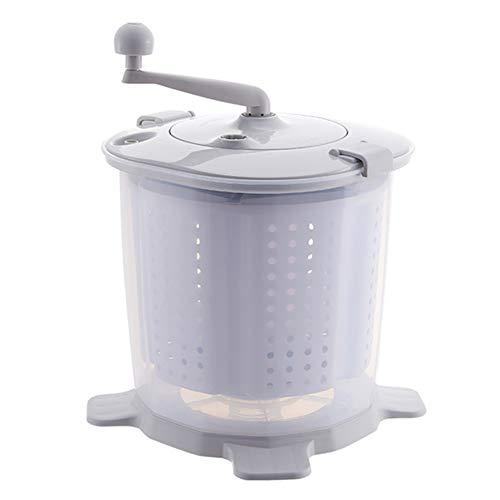 Tragbare Handwaschmaschine, Handwäsche, Mini-Waschmaschine, nicht elektrisch, für Camping, Schlafräume, Universitätskammern grau