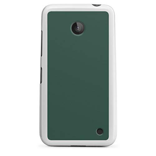 DeinDesign Silikon Hülle kompatibel mit Nokia Lumia 630 Dual SIM Hülle weiß Handyhülle Farbe grün Tannenbaum