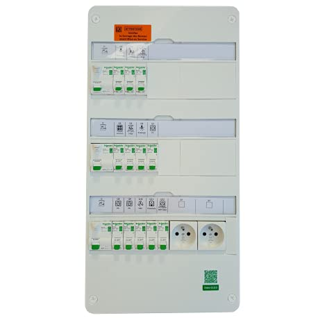 Schneider Electric - Tableau électrique 35 à 100m² XE - TAMC - SCHNEIDER RESI9 - SCH-35/100SC XE