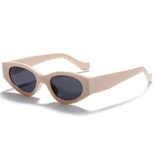 Tanxianlu Gafas de Sol cuadradas pequeñas para Mujer, Retro, Beige, Verde, Gafas de Sol para Hombre, Ojo de Gato, Rosa, Uv400,s