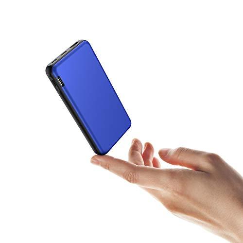 ButcHer Batterie Externe 20000mAh, Power Bank avec 2 Entrées (USB-C+Micro) Compatible avec Tous Les Téléphones et Tablettes(Bleu)