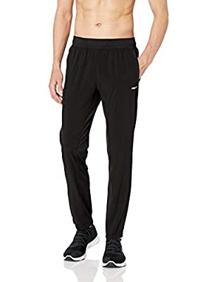 Amazon Essentials Men's Stretch Woven Training Pant, Black, Medium
