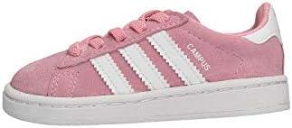 Adidas Campus EL I, Zapatillas de Estar por casa Unisex niños, Rosa (Rossua/Ftwbla/Ftwbla 000), 20 EU