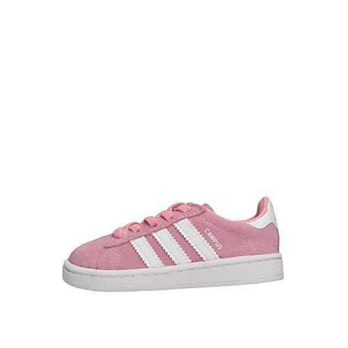 Adidas Campus EL I, Zapatillas de Estar por casa Unisex niños, Rosa (Rossua/Ftwbla/Ftwbla 000), 21 EU