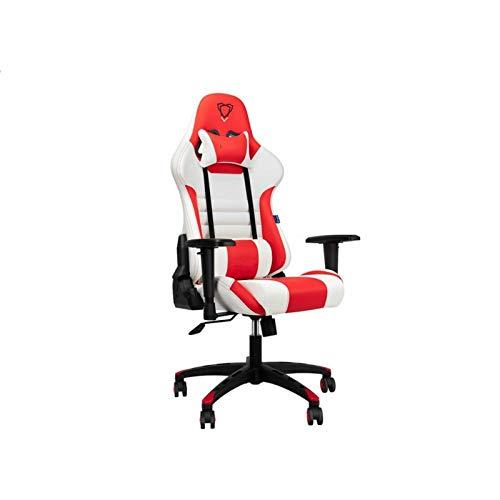 YLJB Home Office StuhlGaming Chair Racing Style Bürostuhl Mit Hoher Rückenlehne Und Verstellbaren 3D-Armlehnen PU-Leder Executive Ergonomic Swivel Spielstuhl Für ComputerLordosenstütze
