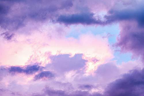 Cielo morado nubes sol,DIY 5d Diamond painting,punto de cruz diamante,artes manualidades de la pared 50x60cm