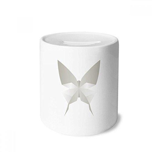 DIYthinker Mariposa Blanca de Origami Modelo Abstracto Caja de Dinero de Las Cajas de ahorros de cerámica Adultos Moneda de la Caja para niños