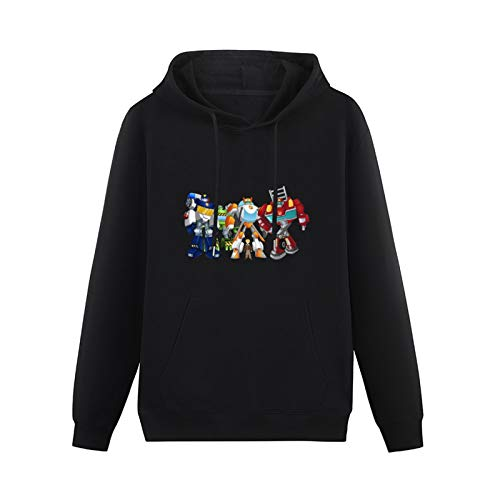 Cool Transformers Rescue Botss Hoodies Pullover Cotton Blend Sweatshirts Black L