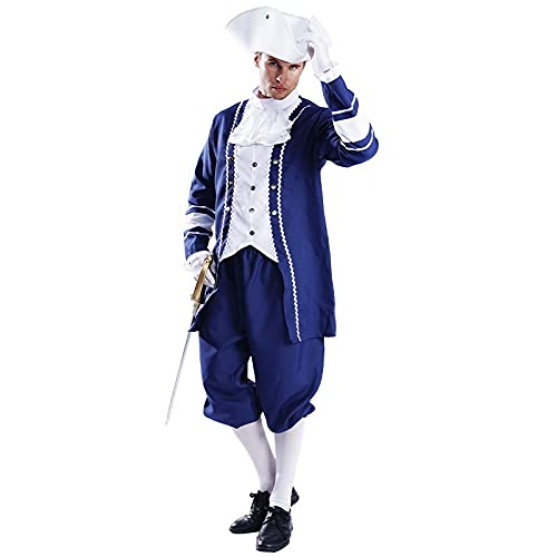 Disfraces de cosplay para adultos Marqus de fiesta, disfraz de Halloween, cosplay aristocrtico para hombres (color : C, tamao: talla nica)