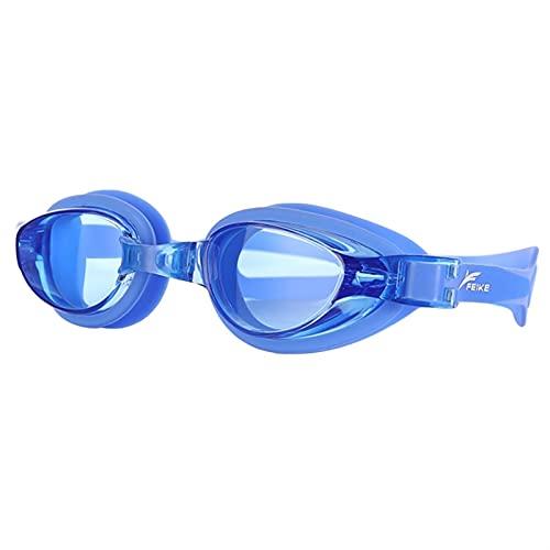 SRXSMGS Schwimmbrille Professionelle Männer und Frauen Anti-Nebel Anti-Ultraviolett Schwimmbrille Beschichtung wasserdichte Verstellbare Schwimmbrillen (Color : Blue)