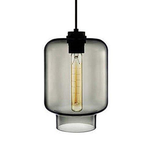 MZStech Lustre en verre simple à 1 lumière Gris