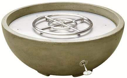 One Stop Outdoor Vivid - 30' Concrete Fire Bowl - Tan Sand Cement Round Fire Pit - Natural Gas (Tan)
