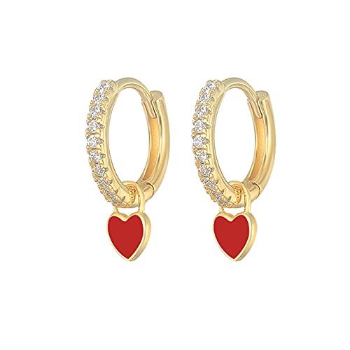 Pendientes de mujer de plata de ley 925 para cartílago de aceite, para boda, fiesta, regalo de joyería fina, Cristal, desconocido,