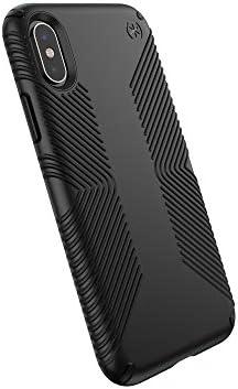 Speck Products Presidio Grip iPhone X Case, Black/Black