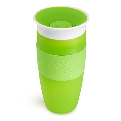 Munchkin Miracle 360ᵒ Trinkbecher, auslaufsicher, ab 18 Monaten, grün, 414 ml
