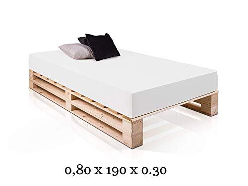 Dydaya Cama de Palets 80 x 190 x 30 Color Madera & Somier & Somieres & Base & Bases & Estructura & Estructuras