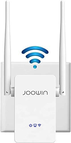 JOOWIN Ripetitore WiFi Wireless, WiFi Extender e Access Point, velocità Banda Singola 300Mbps, WPS, Facile da Installare con Antenne Esterne, Porta LAN, Potenzia la Tua Copertura Wi-Fi, Bianco