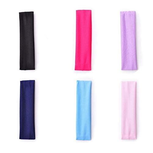 DYL&CDAI 10 Yoga haarband, haaraccessoires Korea intrekbare band hoofdband, monochrome elastische haarband, ideaal voor yoga oefening