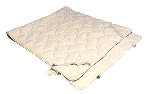 Sympathica - Cubrecolchón 100% algodón, Transpirable y regulador de la Temperatura, Apto para alérgicos, Disponible en Varios tamaños, 70 x 140 cm