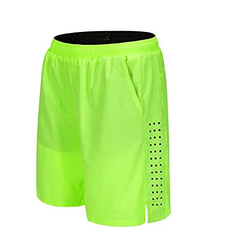 Pantaloncini Da MTB Uomo,Pantaloncini Ciclismo Biciclette, Bici Pantaloni Traspirante Shorts Per Ciclismo Da Corsa All'aperto (Verde,3XL)