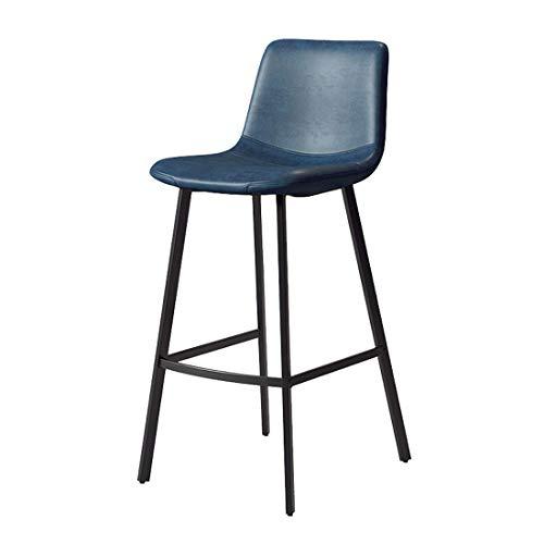 WYJL moderne barkruk met rugleuning hoge voetenbank metalen barkruk, PU-lederen zitje metaal goud/zwart poten, tegen bistro Pub ontbijt keukenkruk stoelen, zithoogte: 75 cm Y1223