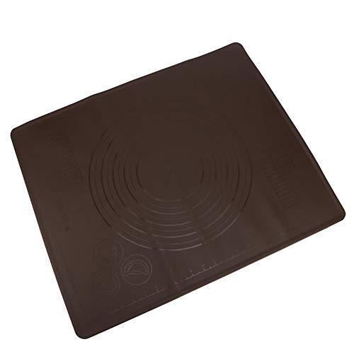 Estera para hornear de silicona sin sabor, alimentos de calidad 60x50 cm Resistencia a la temperatura Estera de la corteza de la corteza hecha de gel de sílice (café)