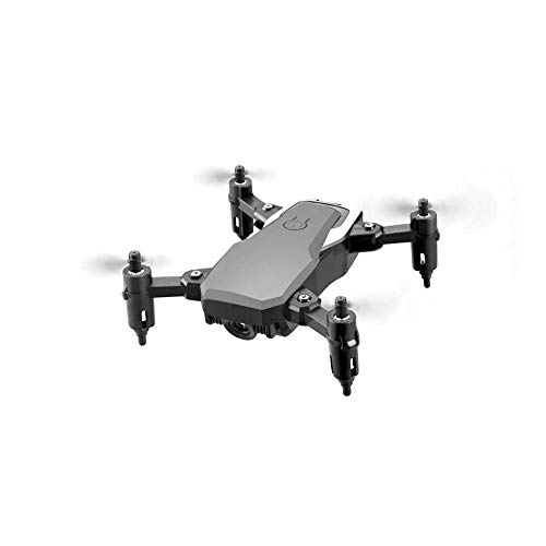 LF606 Faltbare mini Quadcopter mit Weitwinkel 4K Kamera WIFI 2.4G RC Luftaufnahmen Drohne mit 6-Achsen Gyroskop Höheneinstellung Handy Steuerung four axis Flugzeug für Kinder und Anfänger (Schwarz)