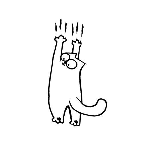 Engomada del Coche del Gato Vinilo removible Etiqueta para el Ordenador portátil de la Tableta de Windows Casco Coche Compras decoración de la Pared de la Motocicleta Negro