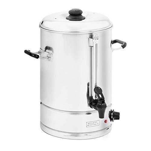 Royal Catering - Wasserkocher Heißwasserspender (15 Liter, ca. 82 Tassen, 33,5 x 38 x 44 cm, 2.500 W, 100 °C, Edelstahl) Silber