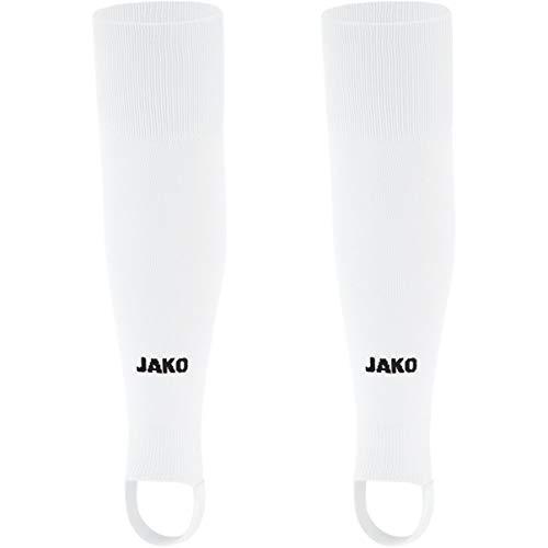 JAKO Senior Stutzen Glasgow 2.0, Weiß, 2 (Herstellergröße: Senior)