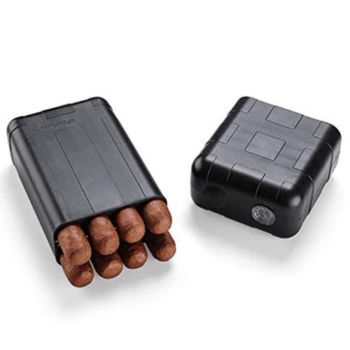 JYTFZD YANGLOU-boîte à cigares Porte-Cigarette-s- Voyage Portable en Cuir recouvert de cèdre cèdre de cèdre avec hygromètre et humidificateur -FGZDXJHYH-2 (Color : A, Size : 6.69 * 3.93 * 2.04in)