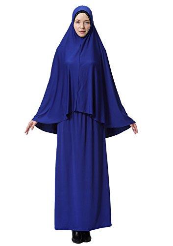 GladThink Mujeres musulmán Largo Estilo Hijab Con Falda