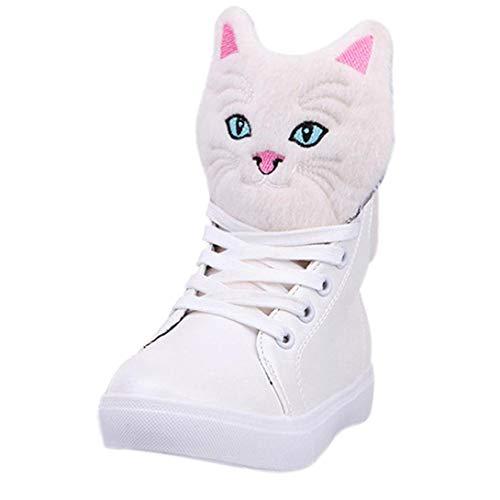Schuhe, Resplend Stiefel Frauen Stiefeletten Outdoorschuhe Lässige Schnürschuhe Studentenschuhe Cartoon Katze Kopf High-Top Muffin Schuhe
