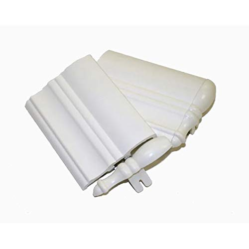 Style Selections Trim Home 2-Piece White Faux Wood Valance Returns