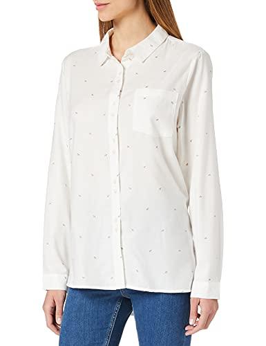 Springfield Blusa Larga Detalles Lurex Camisa, Marfil, 38 para Mujer