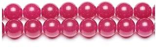 Packet 8 x Fuchsia Malaysian Jade 8mm Plain Round Beads VP2155 (Charming Beads)