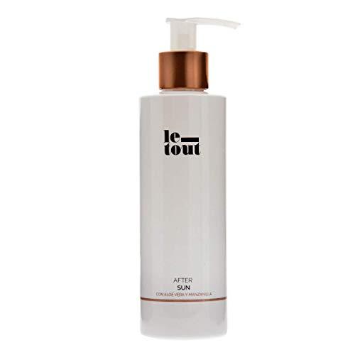 Le Tout After Sun 200 ml, Leche Hidratante para el cuidado de la piel tras la exposición al sol con efecto Calmante y refrescante con extracto de Manzanilla, Aloe Vera, Colágeno e Hidratante Natural