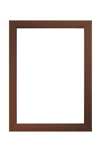 EUROLine35 mm Bilderrahmen für 55 x 18 cm Bilder, Farbe: Wenge, inkl. entspiegeltem Acrylglas und MDF Rückwand, Rahmen Breite: 35 mm, Außenmaß: 60,8 x 23,8 cm