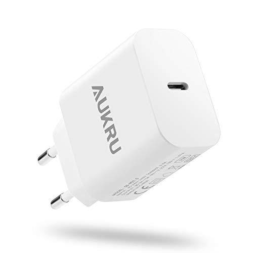 Aukru 20W PD 3.0 Cargador USB C Carga Rápida para iPhone 12 Pro MAX 12 12 Mini 11 Pro MAX 11 SE 2020 XS MAX XR X 8S Plus iPad Pro air4 Airpods MAX,para Xiaomi Mi 10 9 8 y Huawei P40