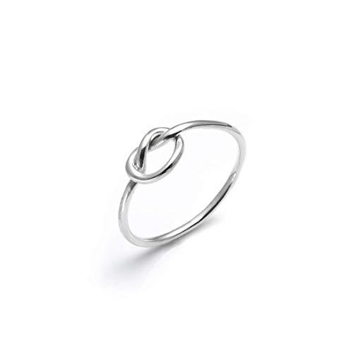 Silverly Anillo Mujer en Plata .925 Pide Un Deseo Amor Nudo Celta Amor