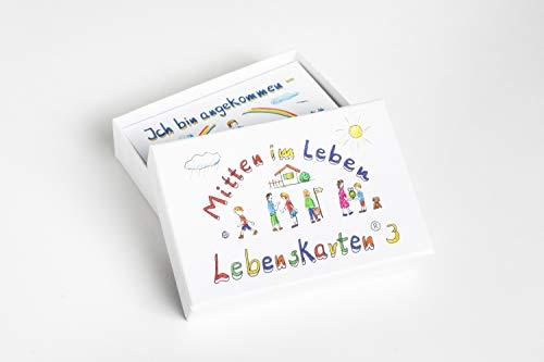 Lebenskarten 3 von Barbara Völkner (72 Karten, Visitenkarten Format: 5,5x8,5cm) - Karten für Coaching, Achtsamkeit, Therapie & Seelsorge