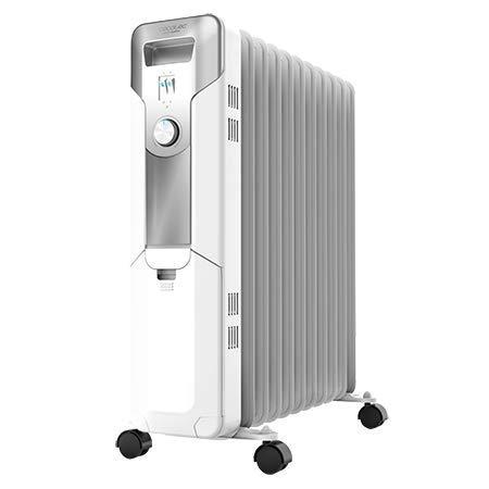 Cecotec Radiador de Aceite Ready Warm 5700 Space. 11 Módulos, Bajo Consumo, Termostato Regulable, 3 Niveles de Potencia, Sistema Antivuelco, Fácil Transporte, 2500 W