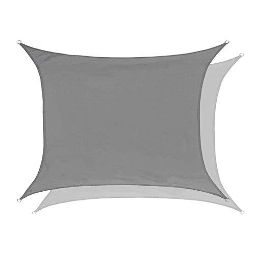 N / A Worryfree - Toldo impermeable, protección solar, 95% bloque UV, rectangular, resistente al viento, sombra, garaje y pérgola para jardín, terraza, balcón y camping, poliéster, gris, 4x4m